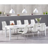 Read more about Jacobi extending white high gloss table with cavello chairs