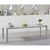 Read more about Jacobi extending light grey high gloss dining table
