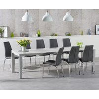 Read more about Jacobi extending light grey high gloss table with cavello chairs