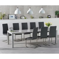 Read more about Jacobi extending light grey high gloss table with malaga chairs