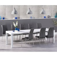 Read more about Jacobi extending white high gloss table with calgary chairs