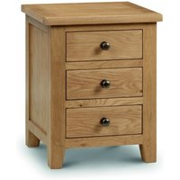 Read more about Marlborough oak 3 drawer bedside chest