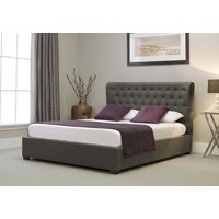Read more about Kensington wing grey fabric ottoman double bed