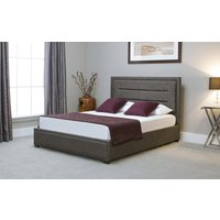 Read more about Kettner grey fabric ottoman king size bed