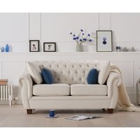Read more about Lacey chesterfield ivory linen fabric two-seater sofa