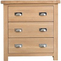 Product photograph showing Ruby Oak 3 Drawer Chest Of Drawers