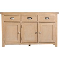 Product photograph showing Ruby 3 Door 3 Drawer Oak Sideboard