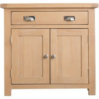Product photograph showing Ruby 2 Door 1 Drawer Oak Sideboard
