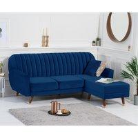 Luciana Sofa Bed in Blue Velvet