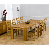 Product photograph showing Madrid 300cm Solid Oak Dining Table With Vermont Chairs