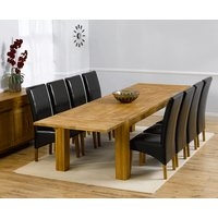 Madrid 240cm Solid Oak Extending Dining Table with Cannes Ch
