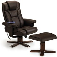 Read more about Marcus brown faux leather massage swivel and recline chair