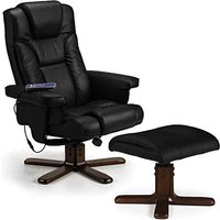 Read more about Marcus black faux leather massage swivel and recline chair