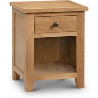 Read more about Marlborough oak 1 drawer bedside chest
