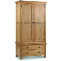 Product photograph showing Marlborough Oak Combination Wardrobe