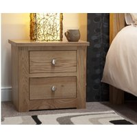 Read more about Reno oak 2 drawer bedside chest