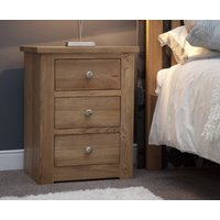 Read more about Reno oak 3 drawer bedside chest