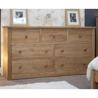 Read more about Reno oak 7 drawer wide chest