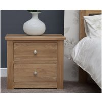 Read more about Reno oak wide bedside chest