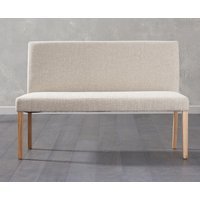 Product photograph showing Mia Large Cream Bench With Back