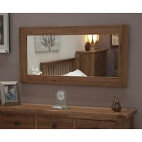 Product photograph showing Rustic Oak Mirror