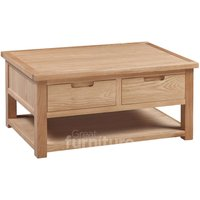 Read more about Merissa oak 2 drawer coffee table