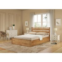 Read more about Modena solid oak king size ottoman bed