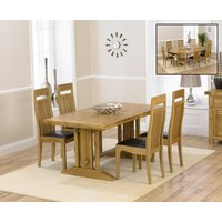 Read more about Cavendish 165cm oak all sides extending table with monaco chairs