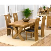 Bordeaux 160cm Solid Oak Extending Dining Table with