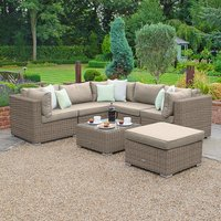 Clayton Rattan Willow Corner Sofa Set