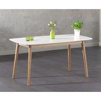 Newark 150cm Oak and White Dining Table