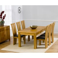 Rustique 180cm Solid Oak Extending Dining Table with Montrea