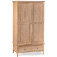 Product photograph showing Suri Oak Large Two Door Wardrobe