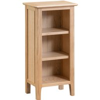 Product photograph showing Suri Oak Small Narrow Bookcase