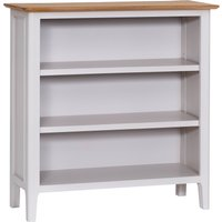 Product photograph showing Diego Oak And Grey Small Wide Bookcase