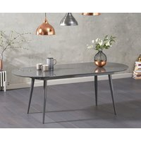 Read more about Olivia extending dark grey high gloss dining table