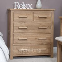 Product photograph showing Opus Oak 2 Over 3 Chest Of Drawers