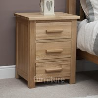Read more about Opus oak 3 drawer bedside cabinet