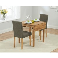 Oxford 70cm Solid Oak Extending Dining Table with Brown Mia