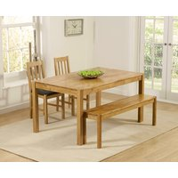 Oxford 150cm Solid Oak Dining Table with Benches and Oxford