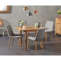 Oxford 70cm Solid Oak Extending Dining Table with Hamburg