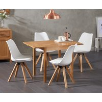 Oxford 70cm Solid Oak Extending Dining Table with Ophelia Fa