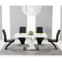 Read more about Palma 160cm white high gloss dining table with hampstead z chairs