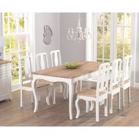 Product photograph showing Parisian 175cm Shabby Chic Dining Table And Chairs