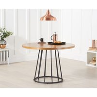 Product photograph showing Highbury 110cm Ash And Veneer Round Dining Table