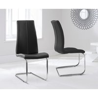 Read more about Tarin black faux leather hoop leg dining chairs -pairs-