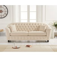 Read more about Columbus beige linen 3 seater sofa