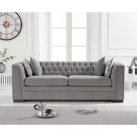 Read more about Pedro grey linen 3 seater sofa