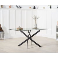 Product photograph showing Montigue 160cm Glass Dining Table