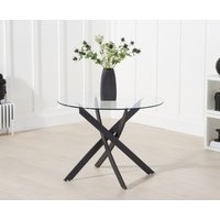 Read more about Montigue 100cm round glass dining table